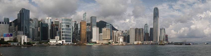 panorama of central Hong Kong